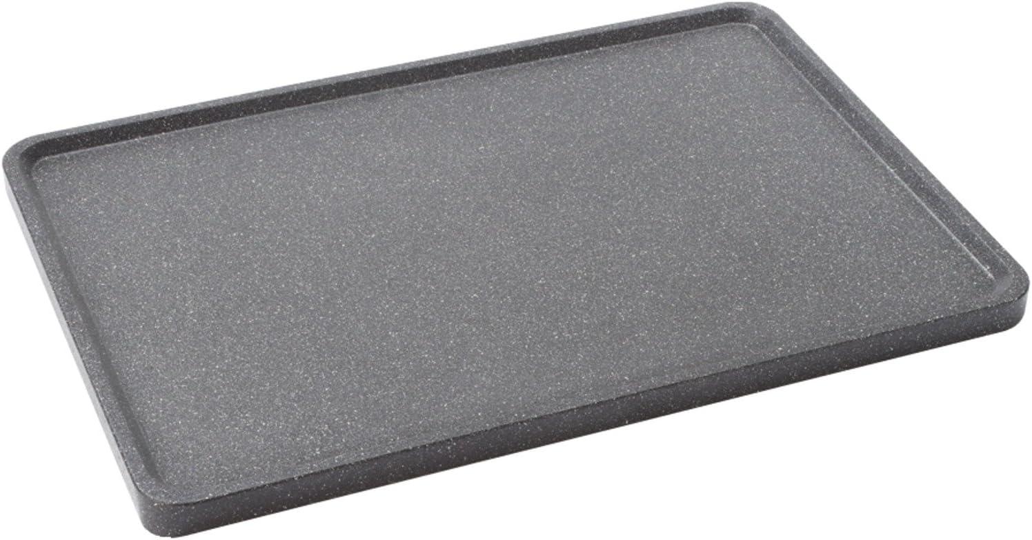 Aluminum Starfrit 060739-003-0000 The Rock Reversible Grill//Griddle Black