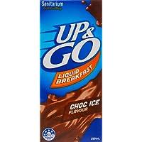 UP&GO Choc Ice Flavour Liquid Breakfast Drink, 12 x 350 Milliliters