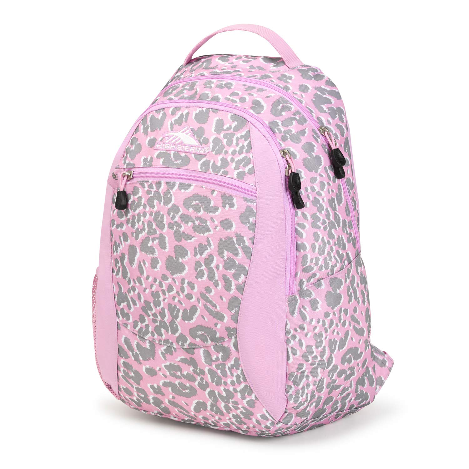 High Sierra Curve Lightweight and Compact Student Backpack - Stylish Bookbag or Lunch Backpack for Children, Teens, or Adults - Unisex Campus Backpack (Shadow Leopard/Iced Lilac) by High Sierra