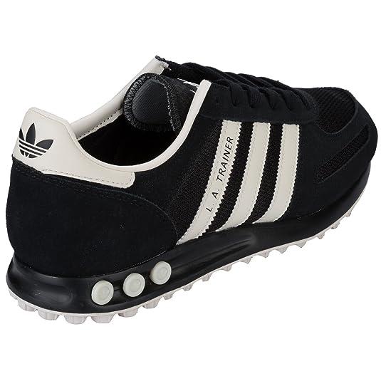 adidas la trainer black white