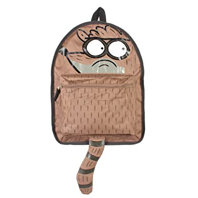 bc1af495a4de Regular Show Mordecai and Rigby Reversible Backpack  Amazon.co.uk  Clothing