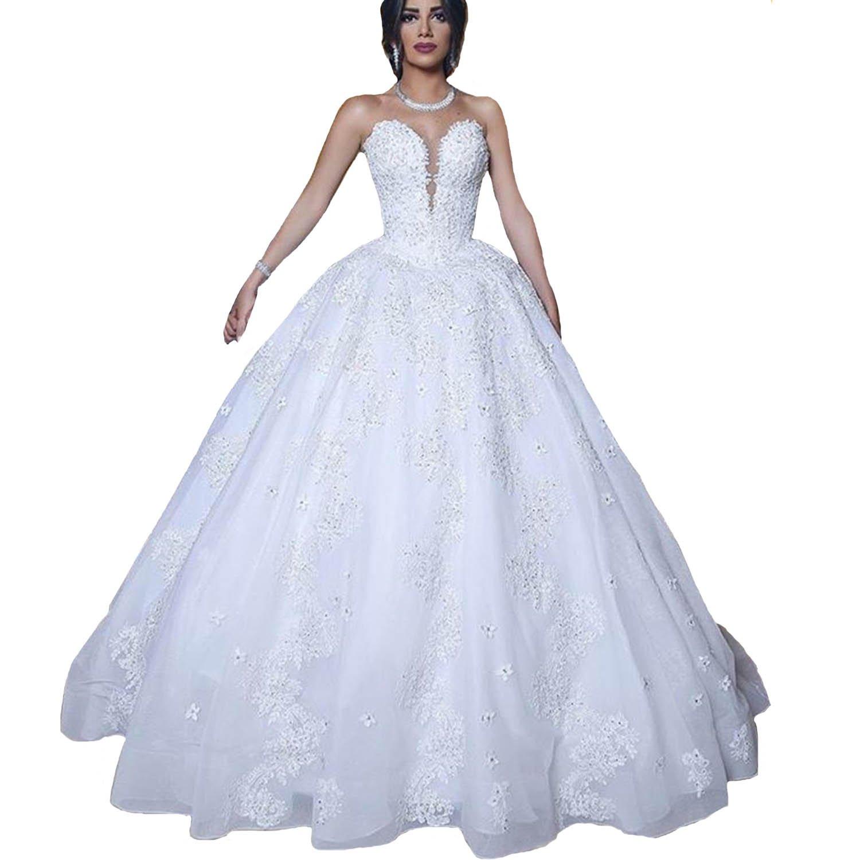 Amazon.com: Yuxin Princess Ball Gown Wedding Dresses for ...