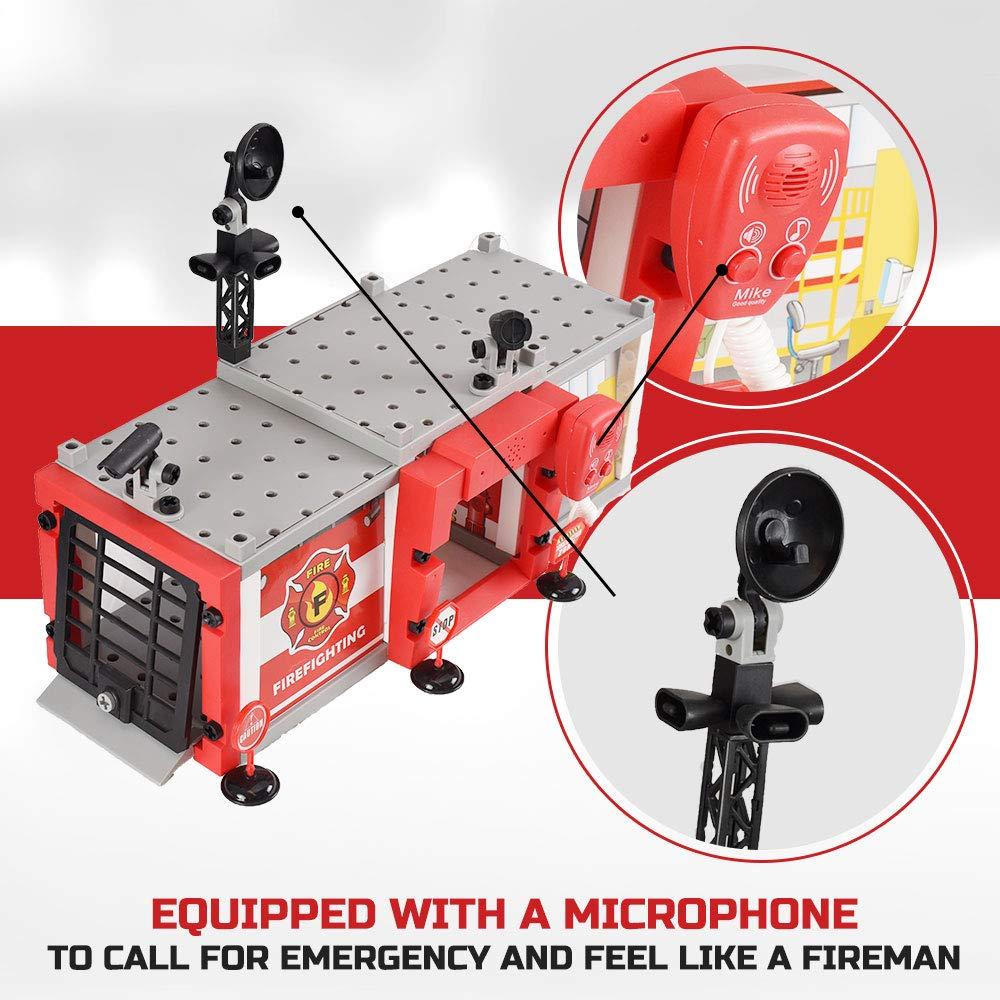 Amazon.com: WolVol Do-It-Yourself Fire Station Garage ...
