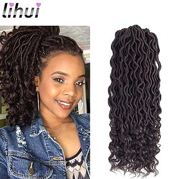 Amazoncom Lihui 6pcslot Goddess Locs Faux Locs Crochet Hair Wavy