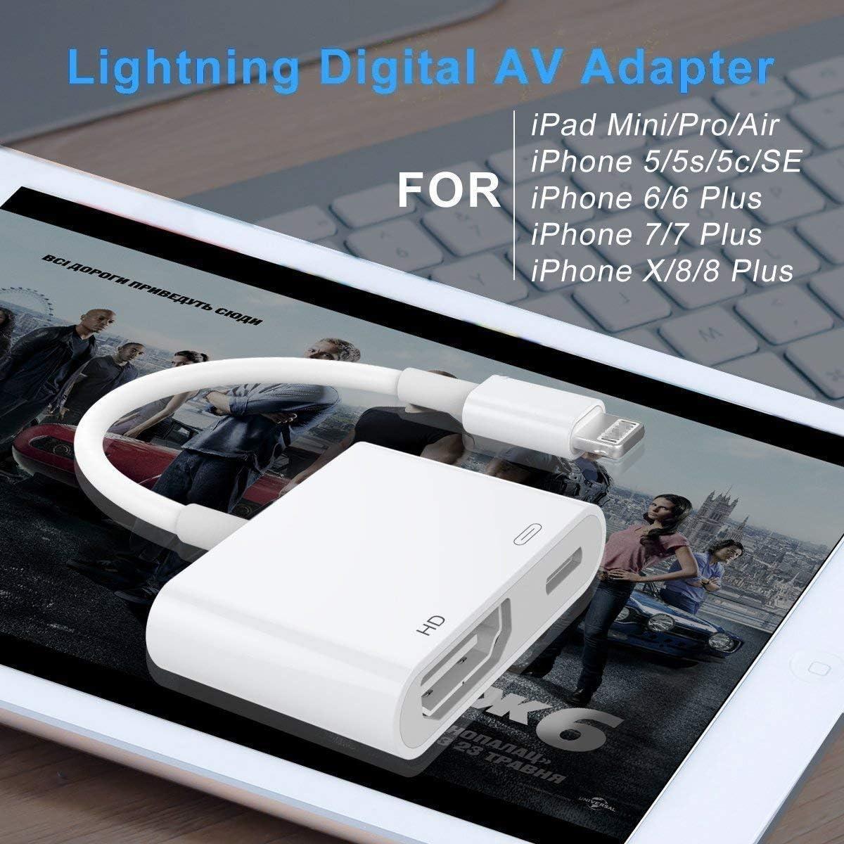 Sunky Adaptador de Cable HDMI, 1080P Adaptador AV Digital Pantalla ...