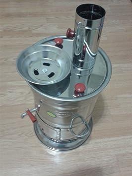 Samovar Calentador de agua de acero inoxidable, 4,5 litros, uso como calentador