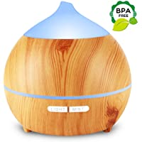 Mulcolor Wood Grain Aromatherapy Essential Oil Diffuser,250ml