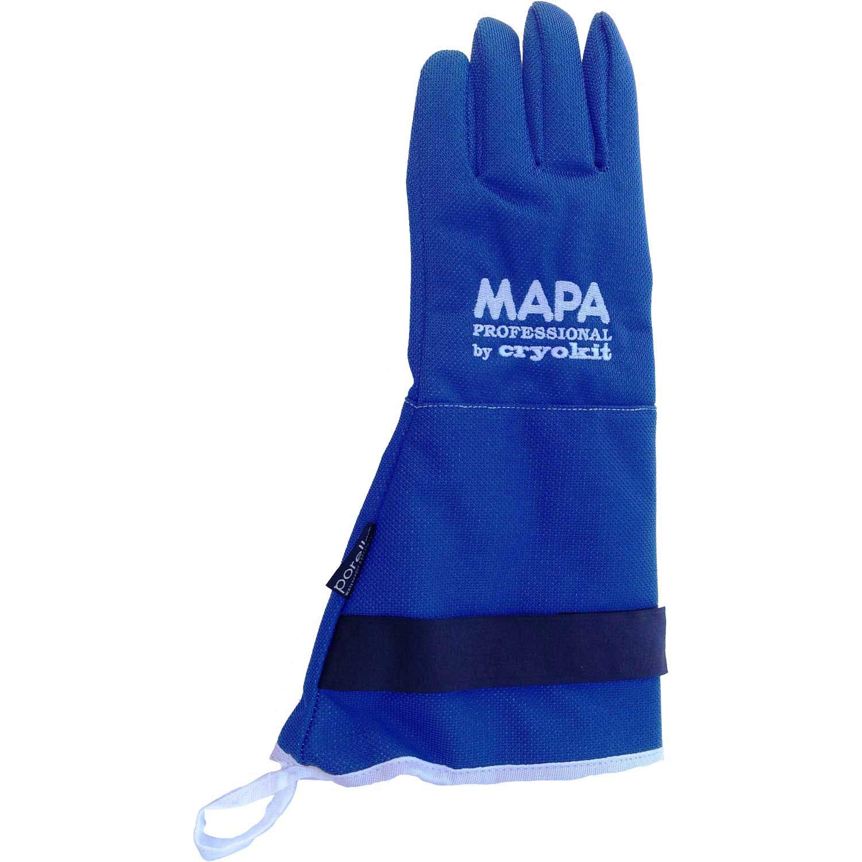MAPA Professional CRYPLS213810 CRYOPLUS-2.1 Cryogenic Glove, (15''-LA), Size 10, PR 1, Blue