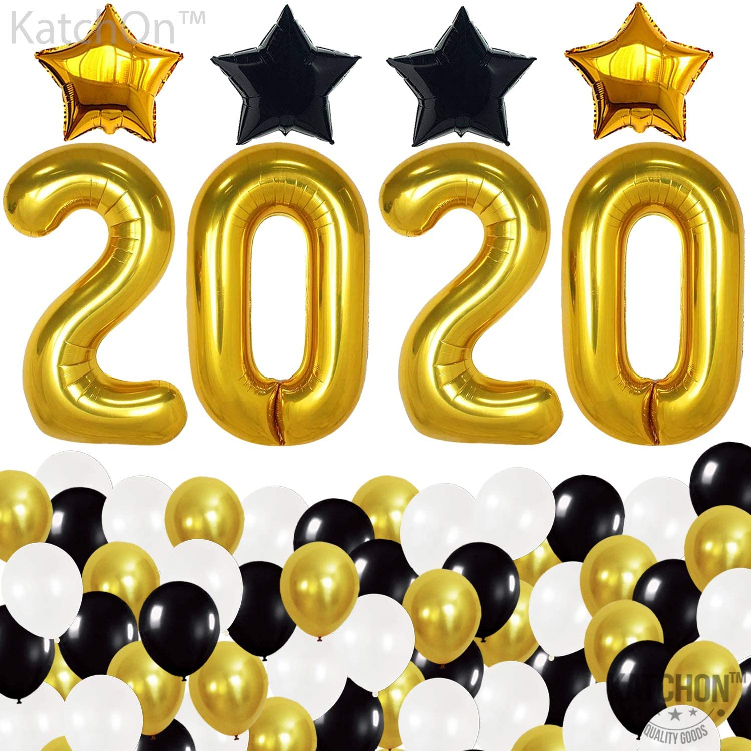 """10/"""" Black Gold White Pearl Balloons Party Decor New Year Eve Baloons Graduation"""
