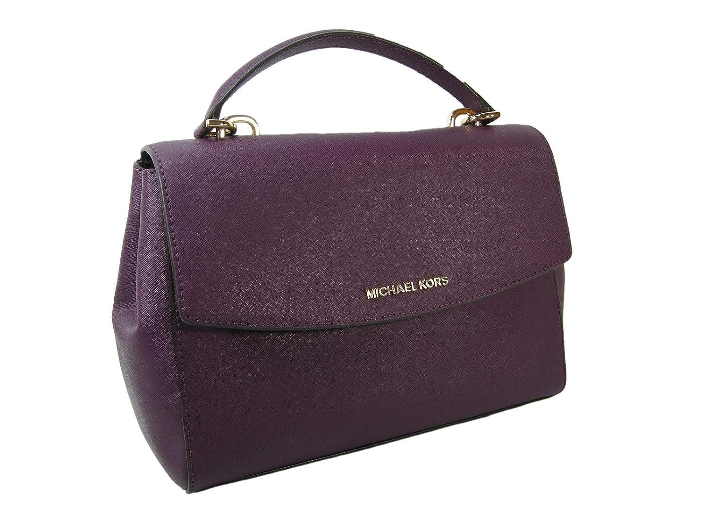 3717df47d537 Amazon.com: New Michael Kors Logo Purse Cross Body Shoulder Hand Bag  Genuine Purple Leather: Shoes