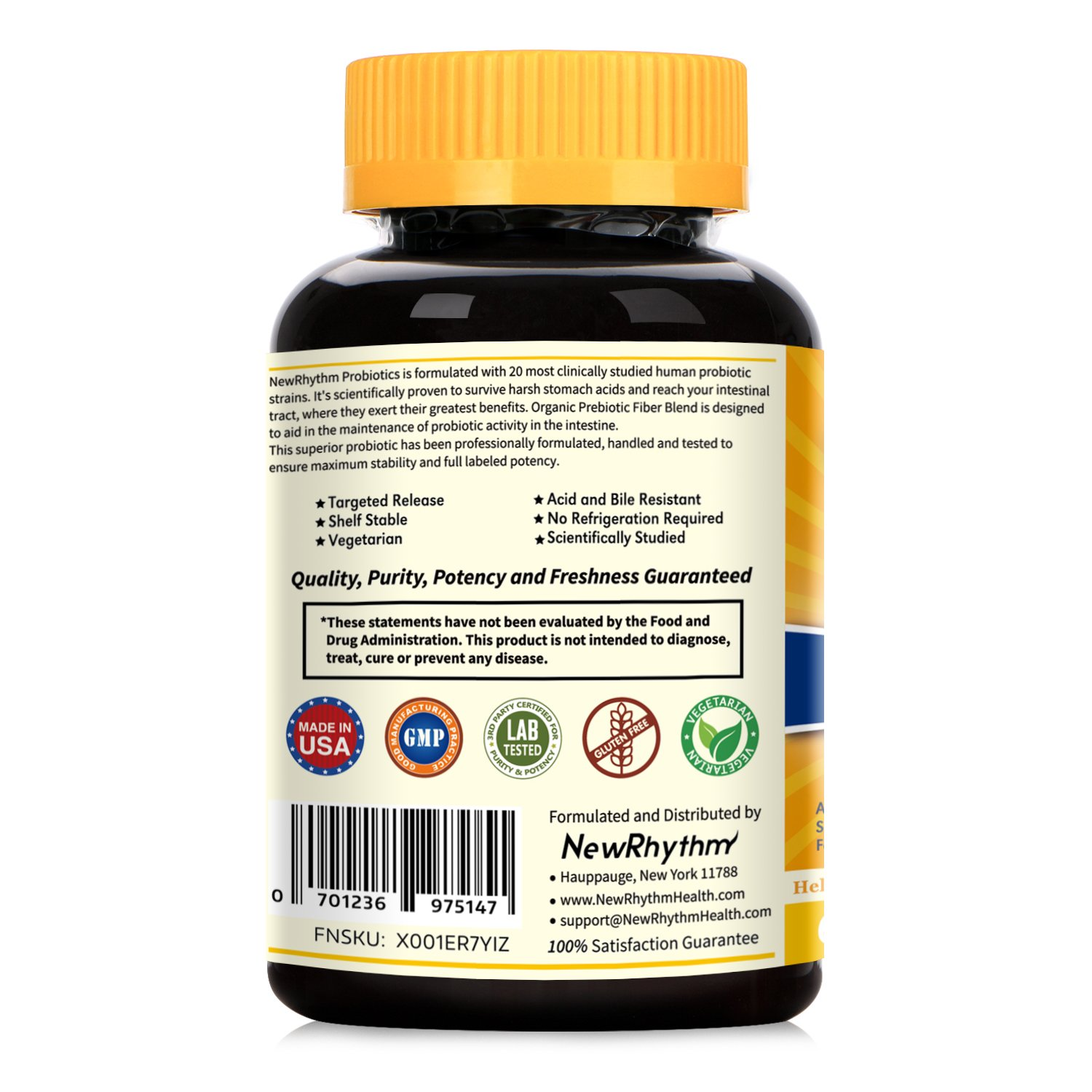 Newrhythm Probiotics 50 Billion Cfu 20 Strains 60 Veggie
