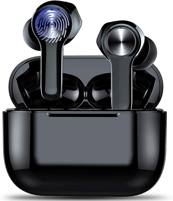 Auriculares Inalambricos, Bluetooth 5.0 HiFi Mini Estéreo In-Ear Earbuds Headphones Bluetooth con IP7 Impermeable Y Micrófono Integrado 40h Reproducción para Deportivos, Running