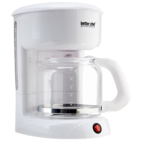 Amazon.com: Mejor Chef 12 Copa color blanco Cafetera im-111 ...