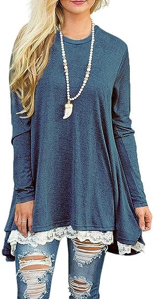 Akihoo Womens Casual Long Sleeve Leopard Print Tops Cowl Neck Raglan Shirts