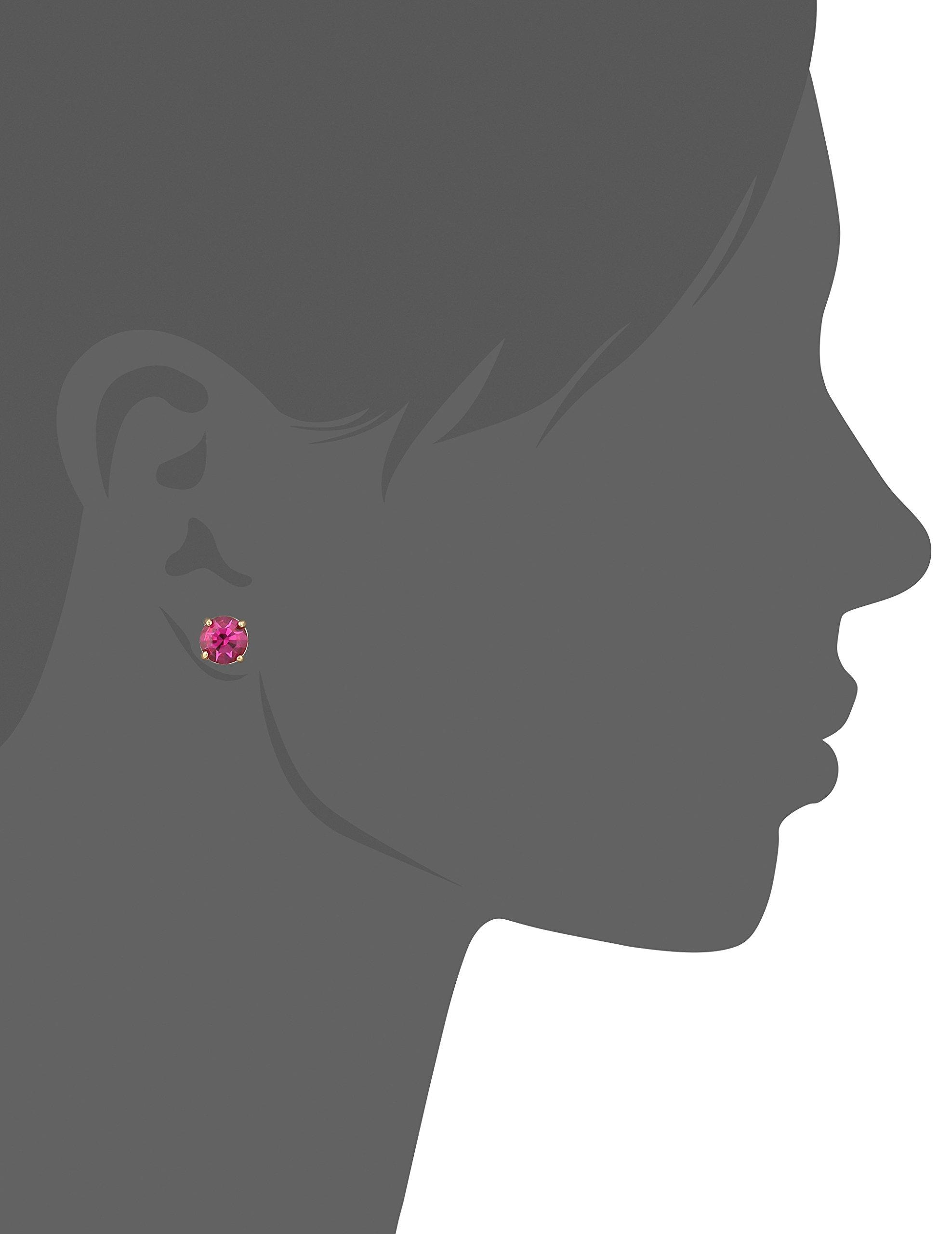 kate spade new york''Cueva Rosa'' Gold-Tone Pink Glass Stud Earrings by Kate Spade New York (Image #2)