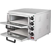 Summile WY1-2 pizza oven electric 3KW 220V professional Pizzaofen 350℃ pizza maker oven ofen 55 x 52x 43cm Zwei Regale Pizza Drawer (WY1-2)