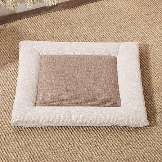 Q&F Cojines para sillas de Cocina Cuadrado Tatami Grueso ...