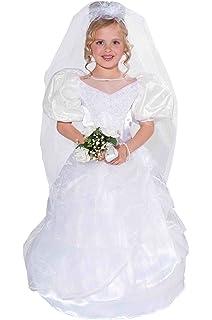 59ebff1cbba8 Amazon.com  Dress Up America Girls Dreamy Bride Dress Little Girl ...