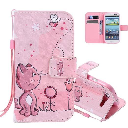 1 opinioni per Aeeque Portafoglio Rosa Cover per Samsung Galaxy S3 Animali Carina Gatto Modello