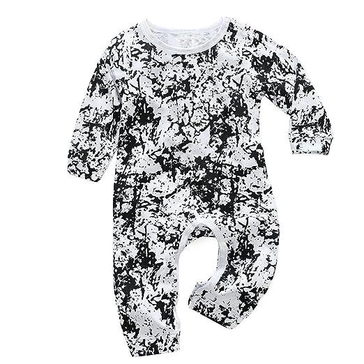 1e1f86cc47aa Amazon.com  KONFA Toddler Baby Boys Girls Fashion Print Rompers ...