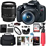 Canon EOS Rebel T7 DSLR Camera Bundle with Canon EF-S 18-55mm f/3.5-5.6 is II Lens + Gadget Case + Sandisk 128gb Ultra Memory