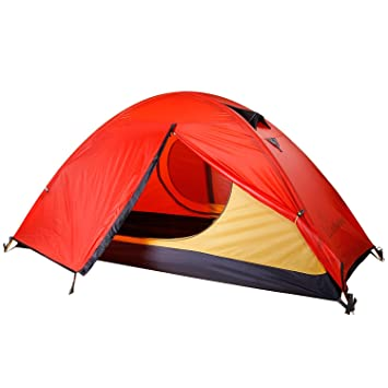 WolfWise Lightweight Waterproof 1 Person 3-Season C&ing Hiking Backpacking Tent  sc 1 st  Amazon.com : 1 person backpacking tent - memphite.com