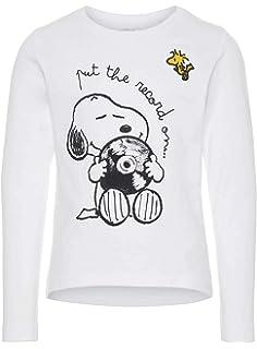 2d52e1a47 Snoopy - Camiseta de manga larga - para niña gris 6 años  Amazon.es ...