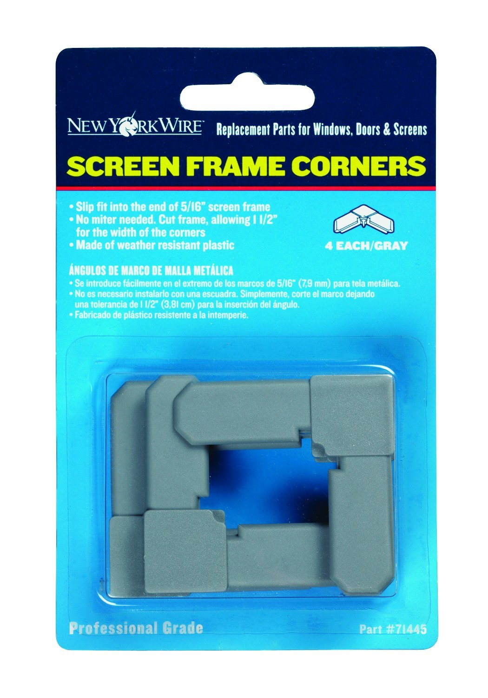 adfors screen frame corners 516 white 4 pieces window dressing hardware amazoncom - Window Screen Frame Corners