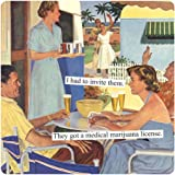 Anne Taintor Square Refrigerator Magnet - I Had to Invite Them
