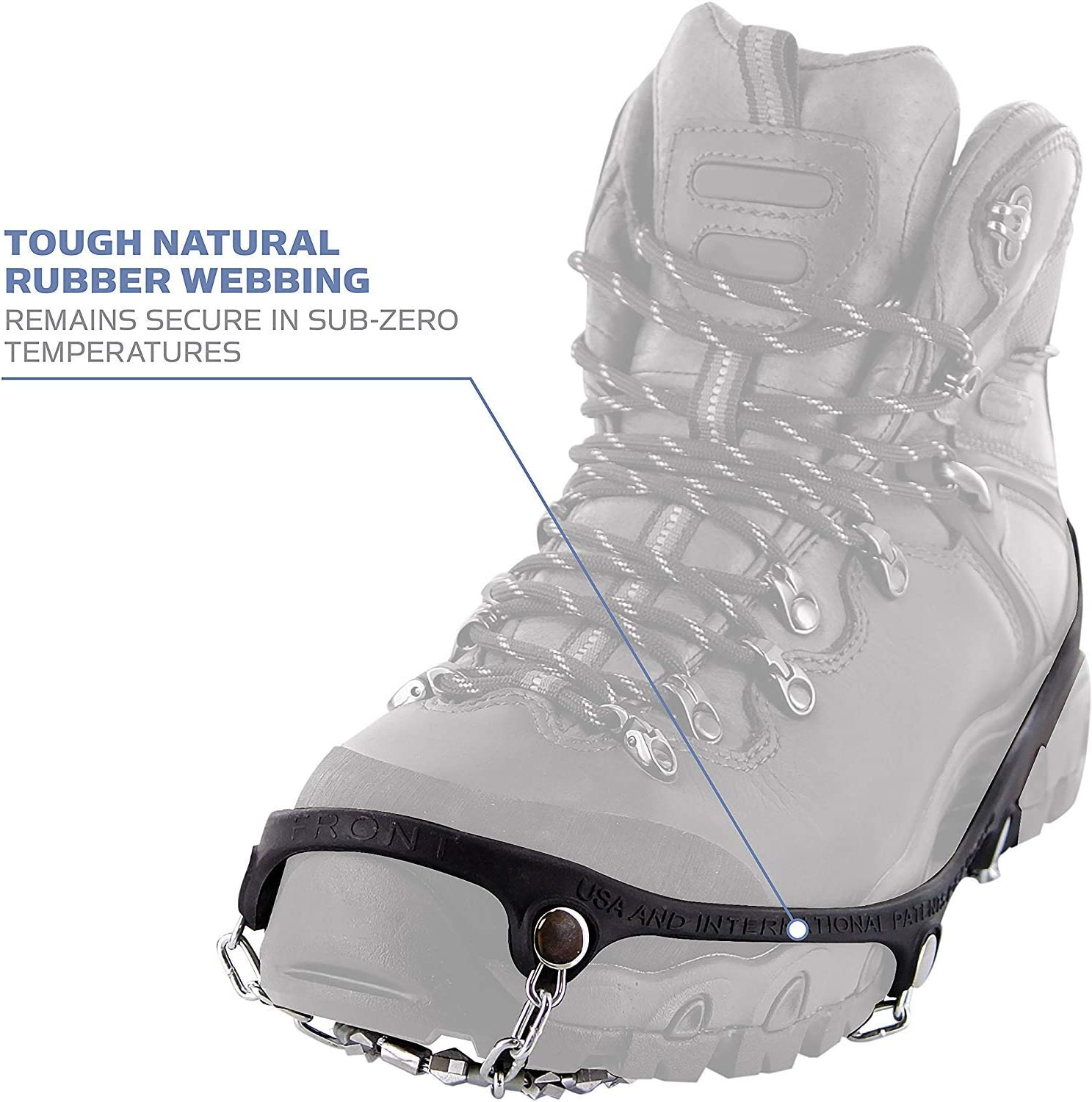 2 Pair w//Micro Sam Salamon Cloth Yaktrax Diamond Grip All-Surface Traction Cleats for Walking on Ice and Snow