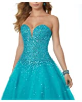 Luxury Rhinestones Beading Puffy Gala Ball Gown Prom Dresses Long Plus Size