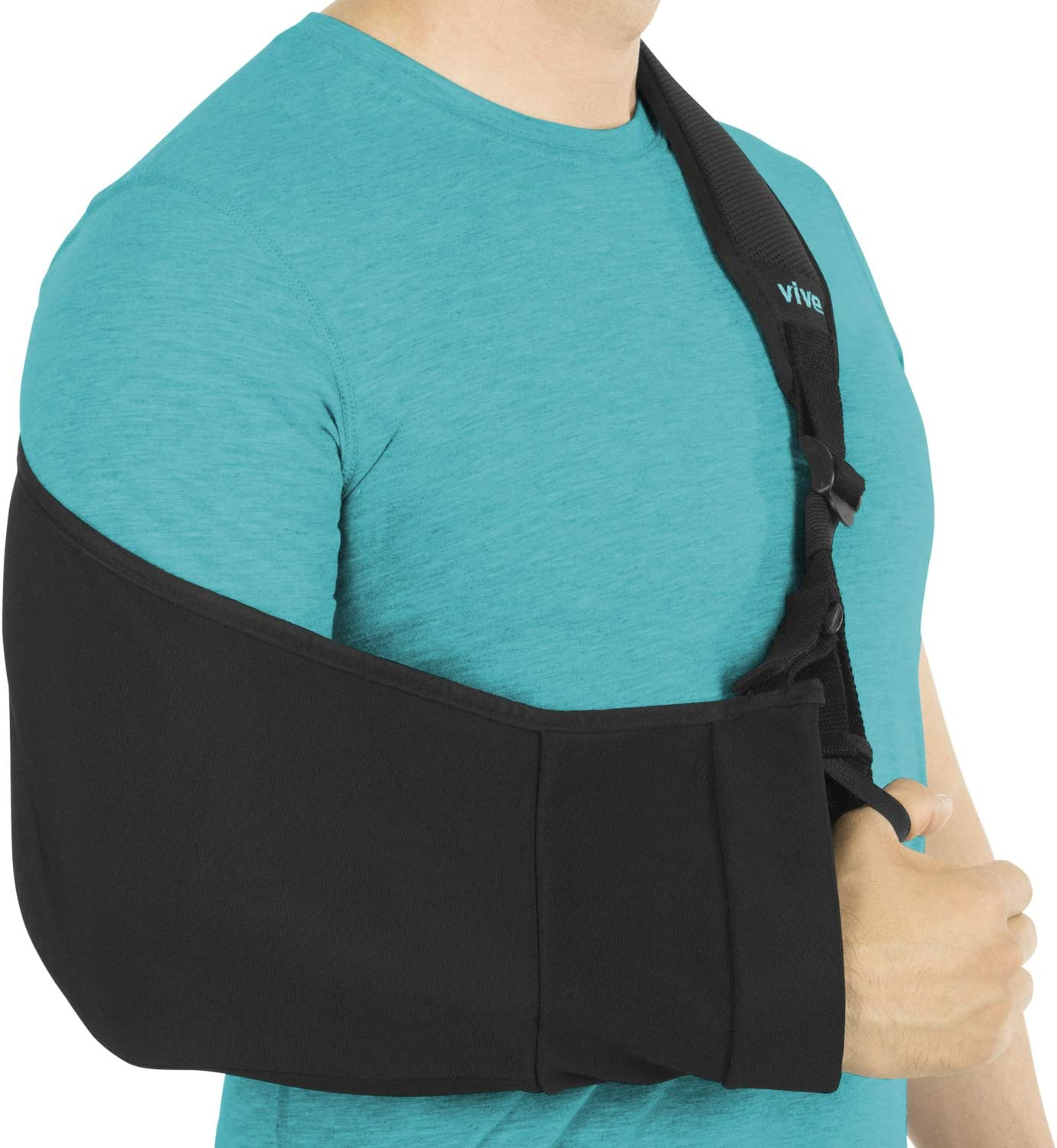 Vive Arm Sling - Medical Support Strap for Collar Bone, Rotator Cuff & Shoulder Injury - Adjustable, Breathable and Lightweight Immobilizer - Padded for Left, Right - for Elbow Dislocation and Sprain: Health & Personal Care