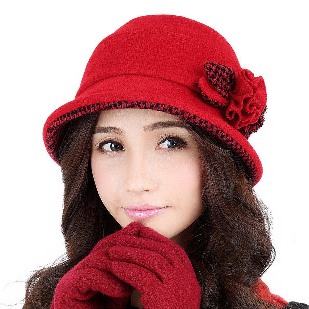 Sombreros de mujer, mujer, otoño invierno cálido potes, sombreros, gorros de , curling fashion,S (54...