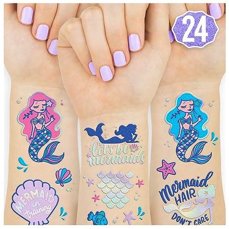xo, Fetti Mermaid Suministros de fiesta temporales tatuajes para ...