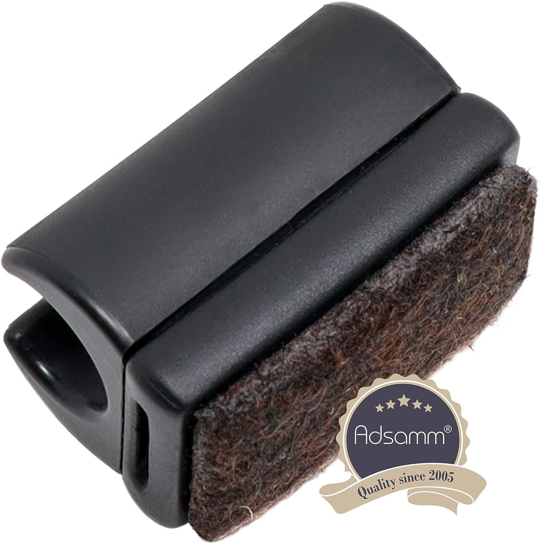 schwarz 4 Klemmschalengleiter//Stuhlgleiter Kunststoff f/ür runde Rohre mit Filz
