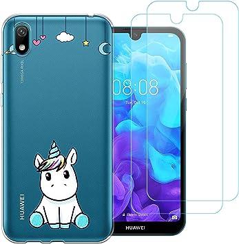 jrester Funda Huawei Y5 2019,Lindo Unicornio Flexible Suave ...