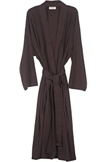 Pure Fiber Organic Jersey Robe, Chocolate