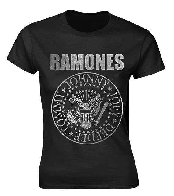 Ladies The Ramones Seal Punk Rock Heavy Metal Oficial Camiseta Mujeres señoras: Amazon.es: Ropa y accesorios