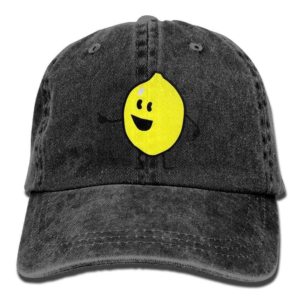 JTRVW Cute Lemon Denim Hat Adjustable Unisex Casual Baseball Hats
