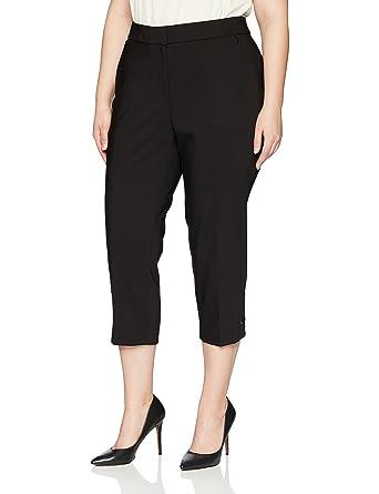 0a513892bb71c Rafaella Women s Plus Size Lightweight Satin Twill Capri at Amazon Women s  Clothing store