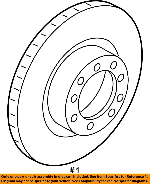 Porsche 991 351 404 01 Disc Brake Rotor