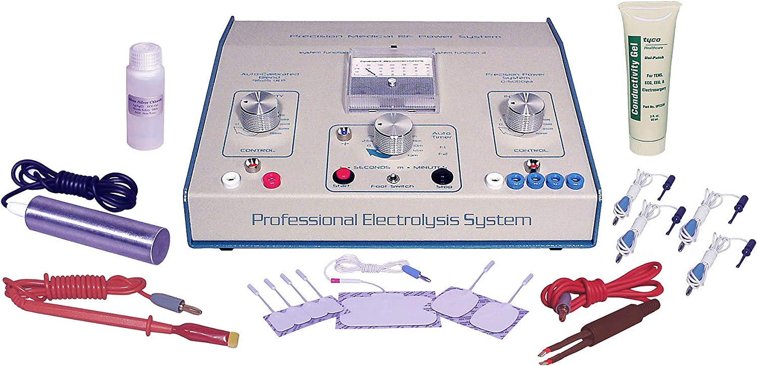 AVX 600 Professional Blend Tone RF-Galvanic Electrolysis System for Permanent Hair Removal Includes Transdermal Acessory Kit