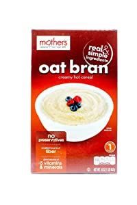 Mother's 100% Natural Oat Bran Cereal, 16-Ounce Box (Pack of 6)