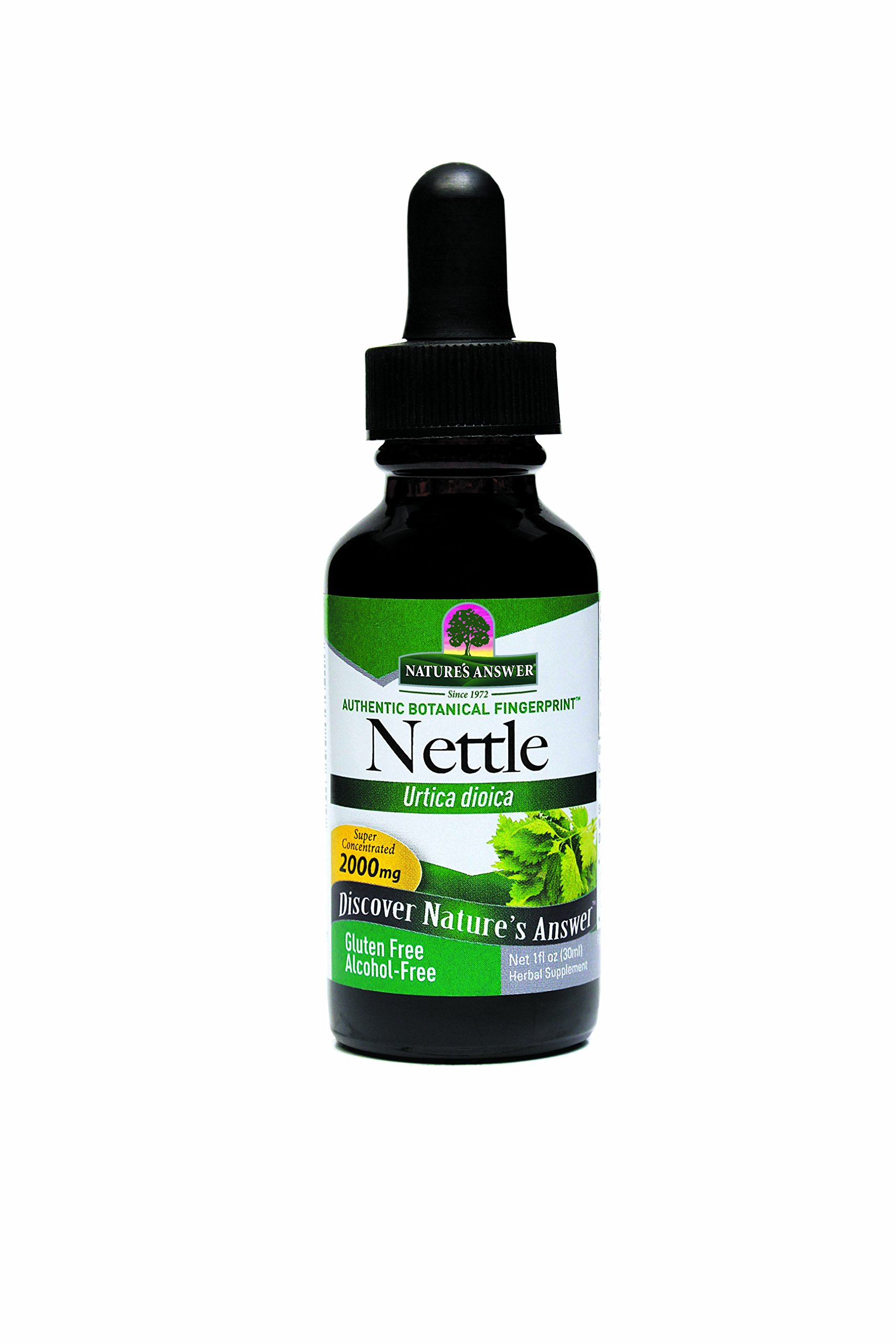 Nettles Extract Alcohol Free Nature's Answer 1 oz Liquid