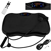 ISO TRADE VibrationsplatteGanzkörper Training Touch Display, Trainingsbänder Fitnessgerät Vibrationsmaschine Maximal belastung 120 kg Bluetoothund Fernbedienung 7863