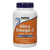 Now Foods Ultra Omega-3 Fish Oil 500 EPA 250 DHA 180 Softgels
