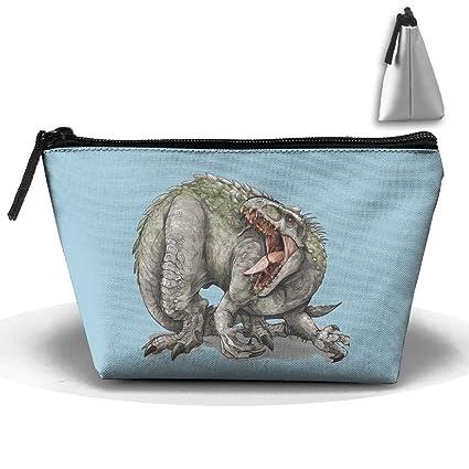 Unisex elegante y práctico mal dinosaurio con Big Mouth trapezoidal almacenamiento bolsas bolsos