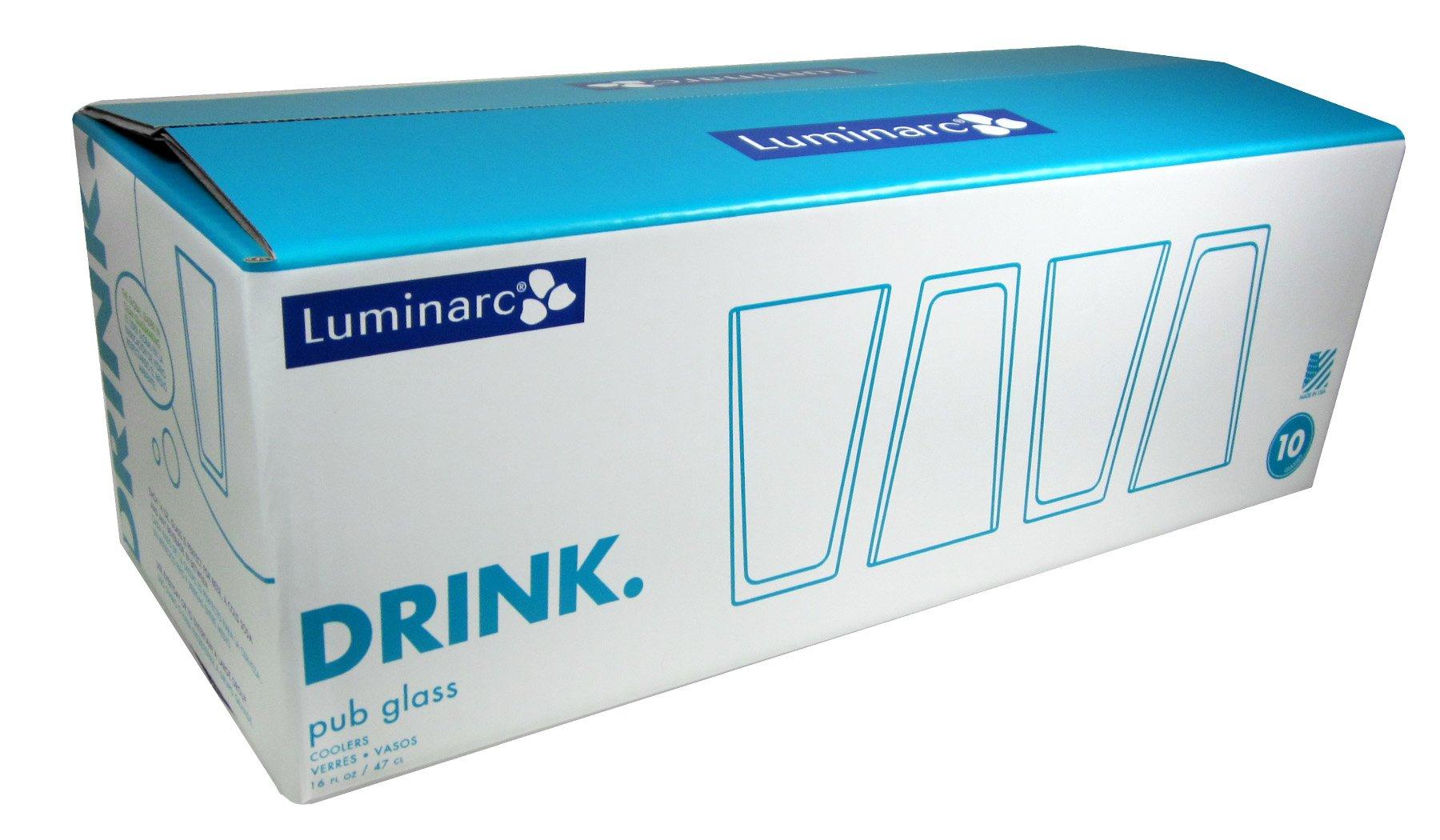 ARC International Luminarc Pub Beer Glass, 16-Ounce, Set of 10 by Arc International (Image #2)