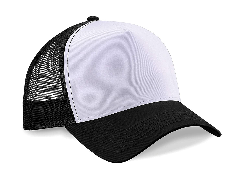 Gorra de béisbol de malla de marca Beechfield, Mujer, color negro ...