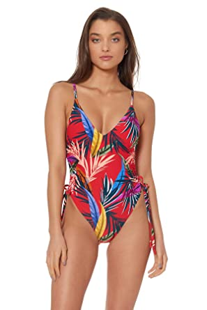 2e4494e9f2ebd8 Red Carter Women's Red Little Havana Blondie Plunge One Piece Swimsuit  Swimsuit at Amazon Women's Clothing store: